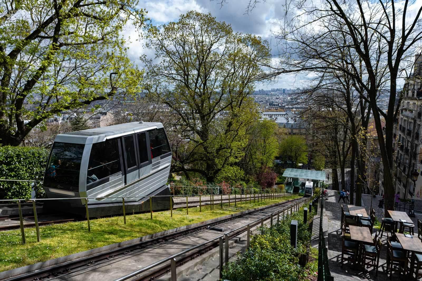 Funicular in Montmartre Paris
