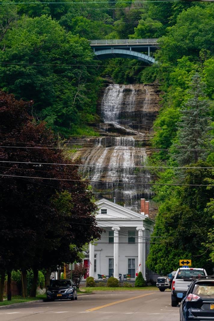 Shequaga Falls Montour Falls near Watkins Glen in Finger Lakes New York