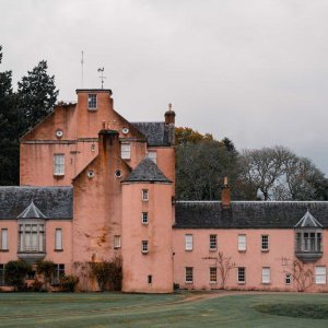 Monymusk Castle in Monymusk in Scotland