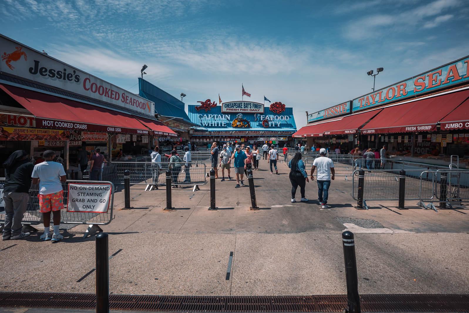 Municipal Fish Market in Washington DC Wharf area
