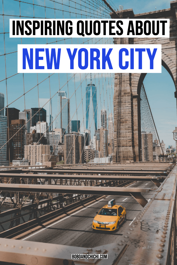 Inspiring quotes about NYC