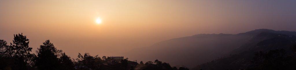 Sunrise Pano on Poon Hill Trek day 1