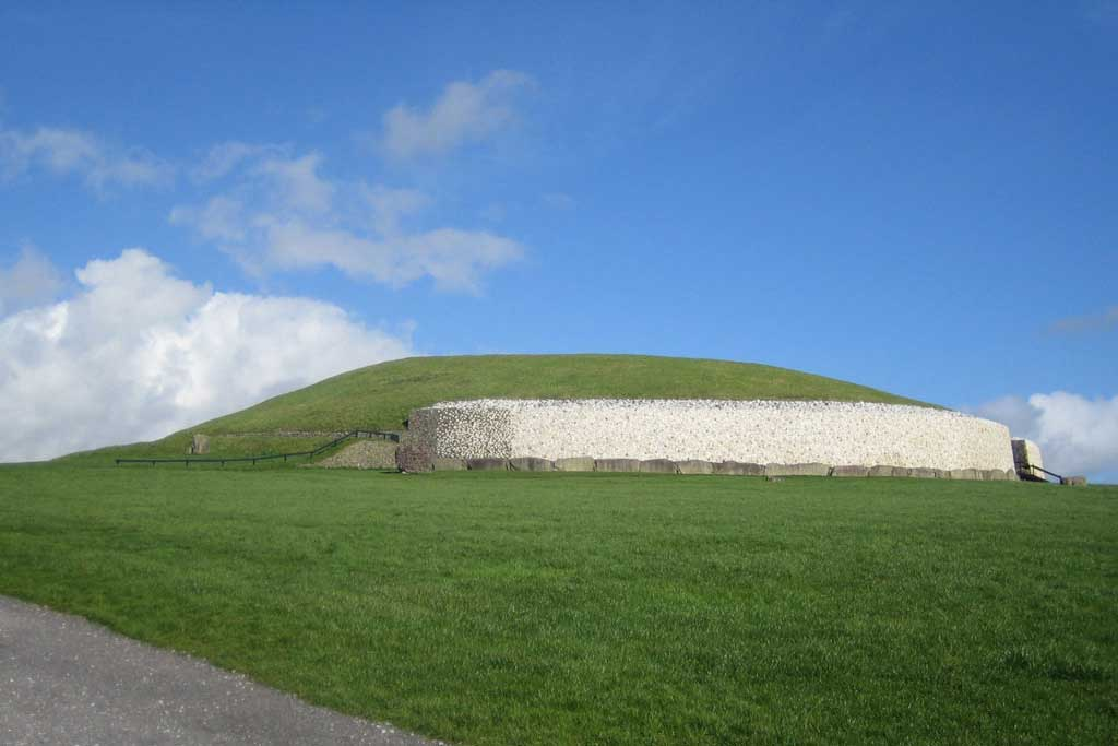 View of Newgrange in Ireland