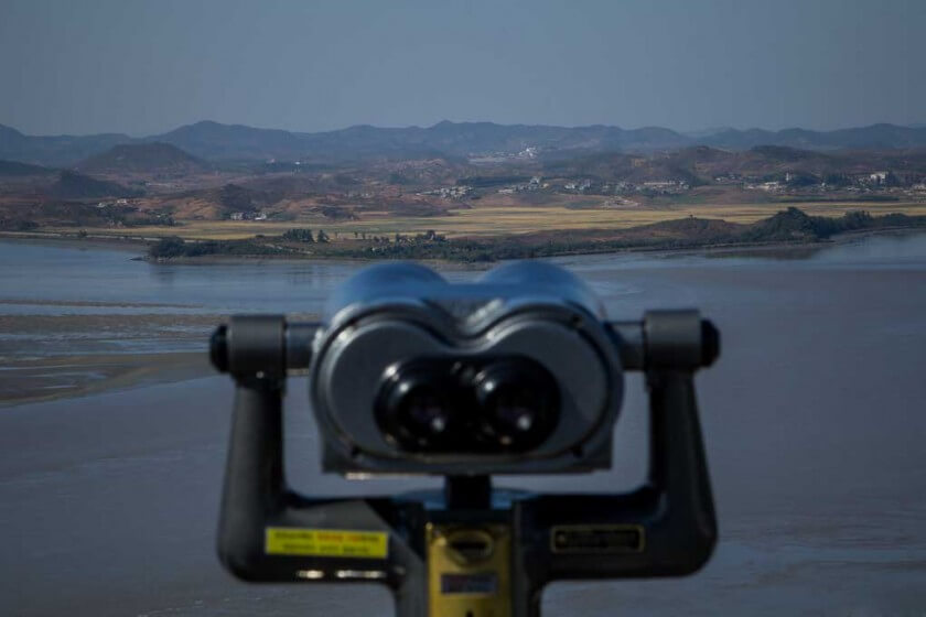 binoculars to look into North Korea from South Korea