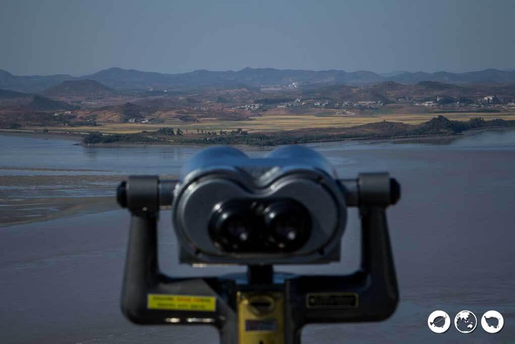 binoculars to look into North Korea from South Korea
