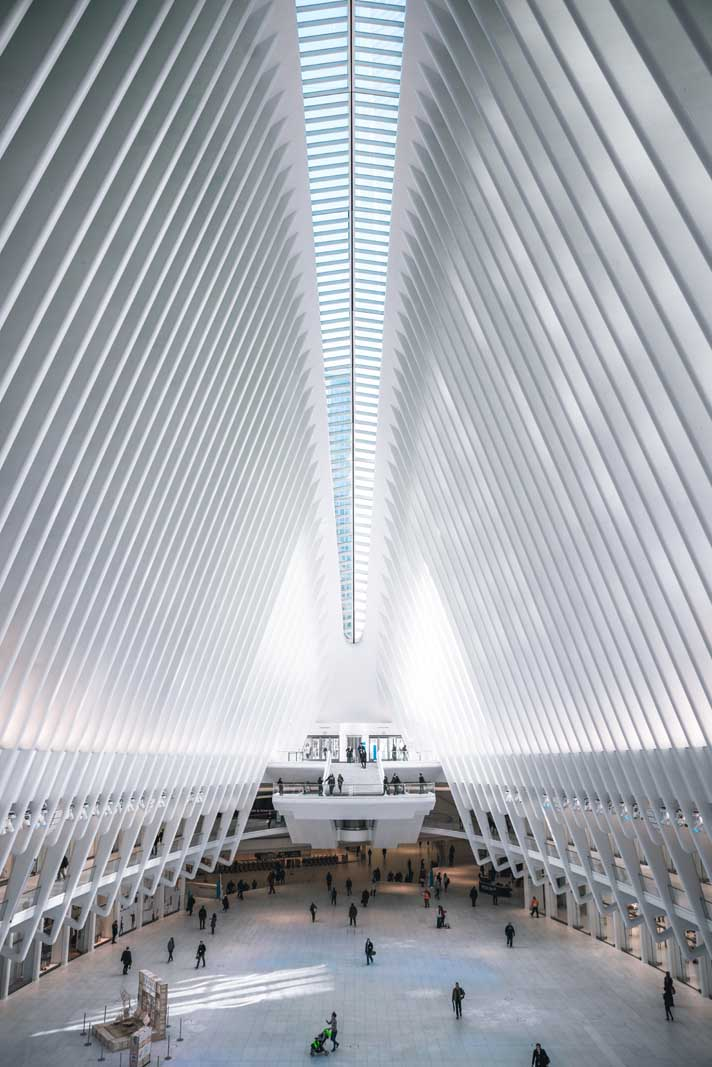 The interior of the Oculus in New York City