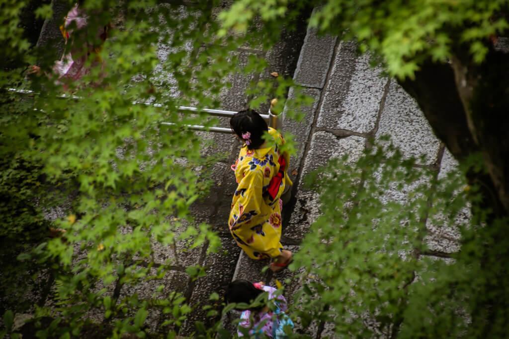 Geisha at Toji Shrine in Kyoto