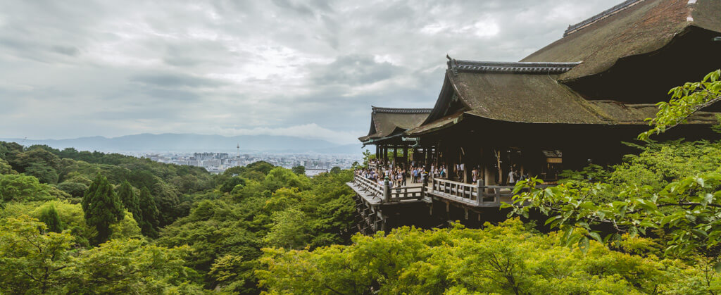 panoramic view of Kiyomizudera in Kyoto