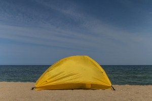 Camping at Naksan Beach