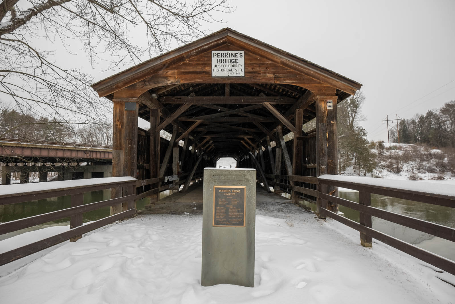 Perrines Covered Bridge in New York