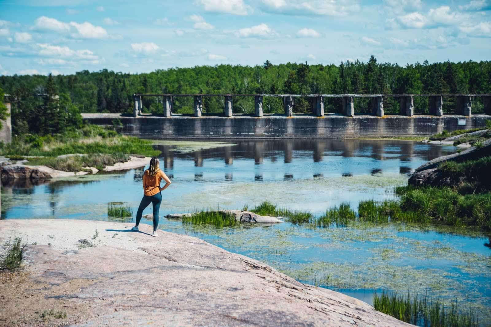 Pinawa Dam Ruins Provincial Park near Winnipeg