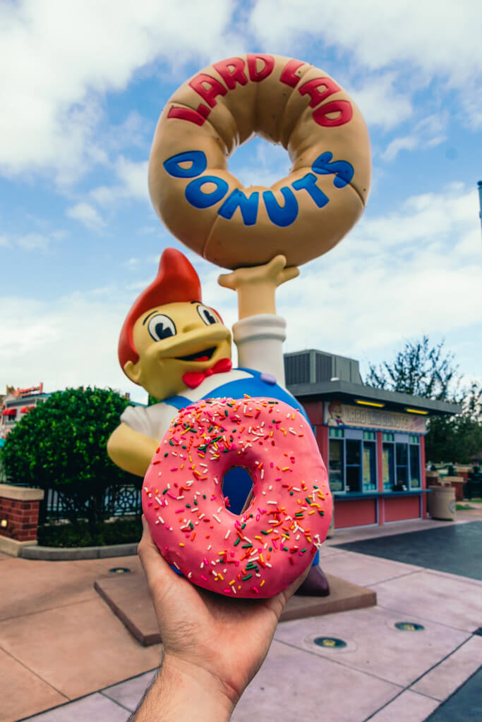 Donut at Lard Lad Donut in Universal Studios Orlando
