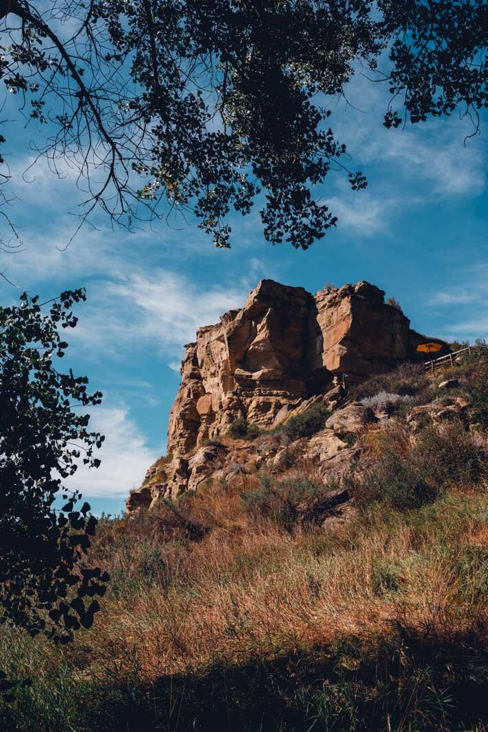 the famous Pompeys Pillar near Billings in Montana