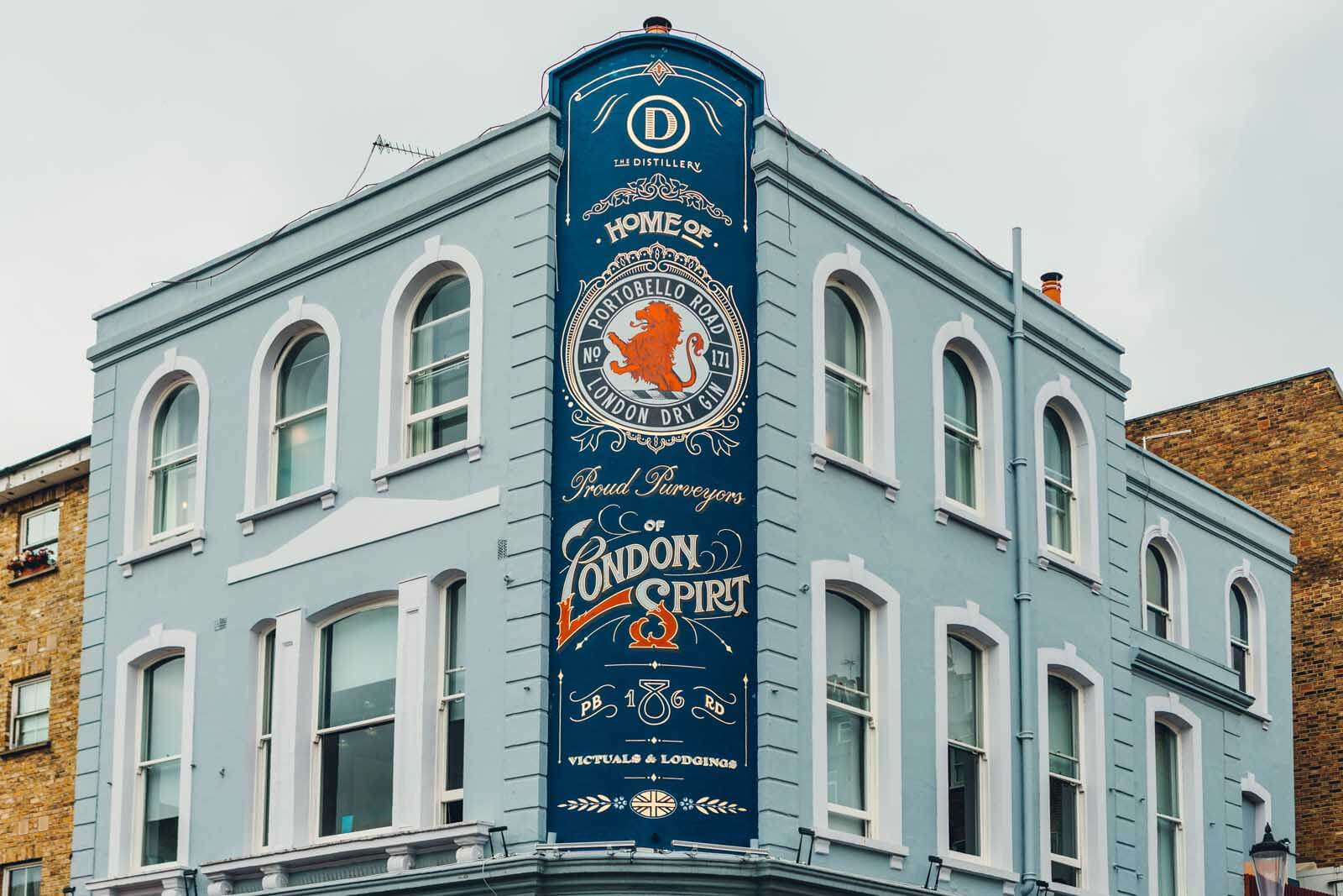 Portobello Road Gin exterior in Notting Hill