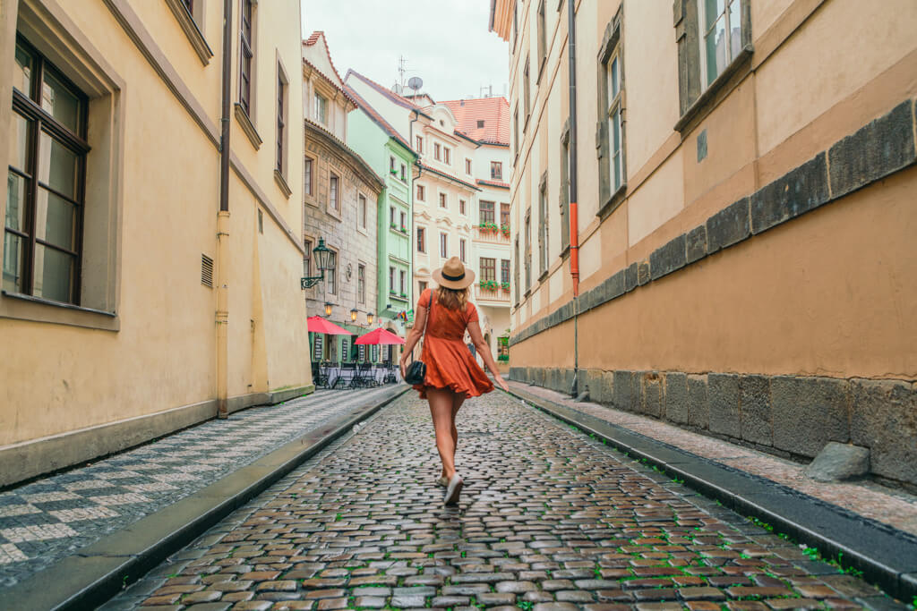 Wandering through the empty streets of Prague