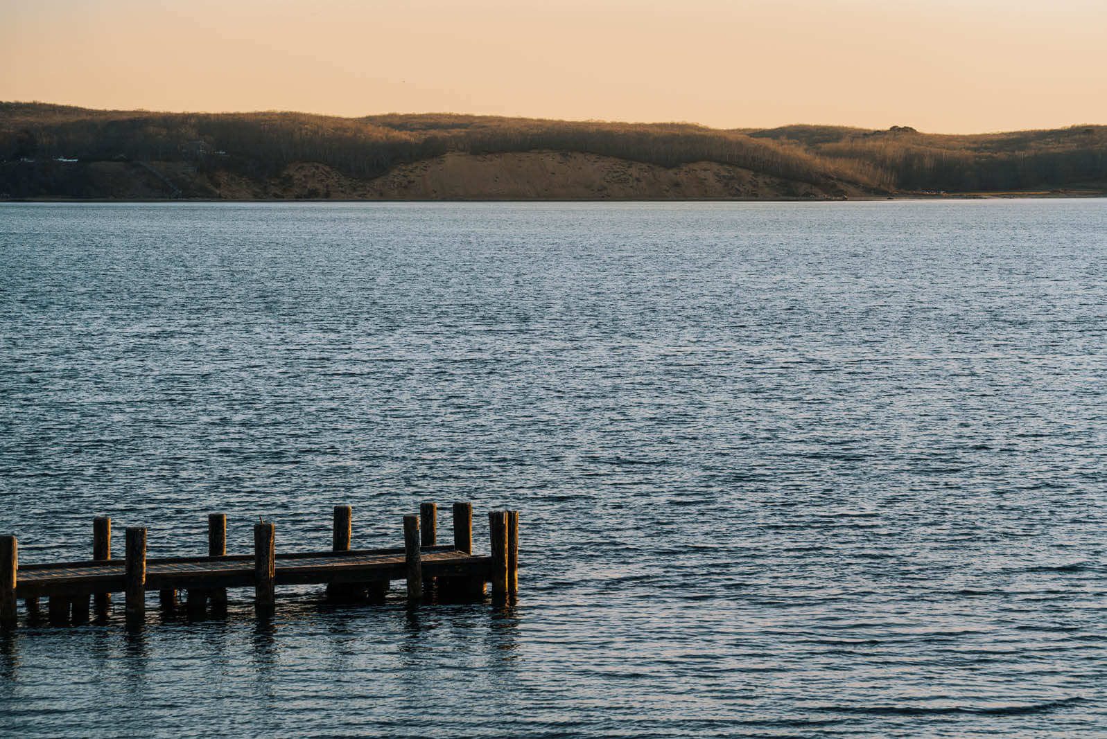 Pretty view on Fort Pond in Montauk the Hamptons New York