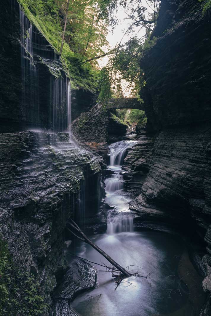 Rainbow falls at Watkins Glen