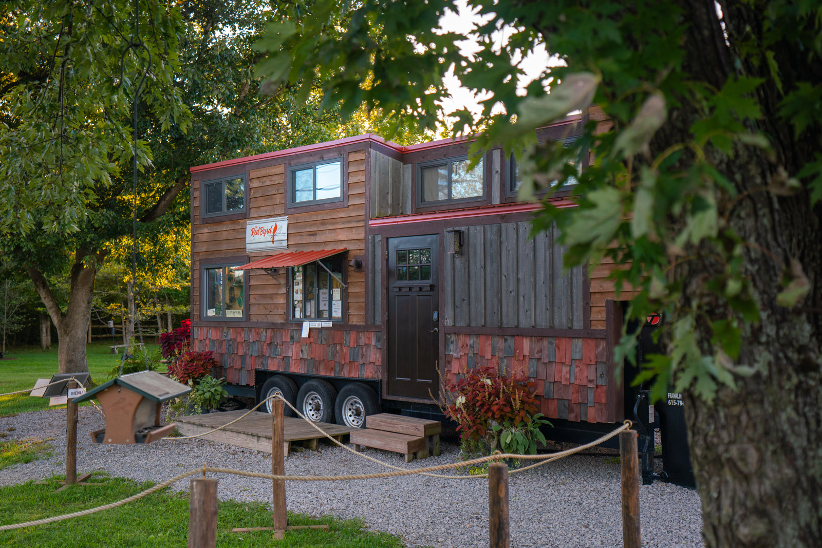 RedByrd coffee shop at leipers fork market in tennessee in a tiny house