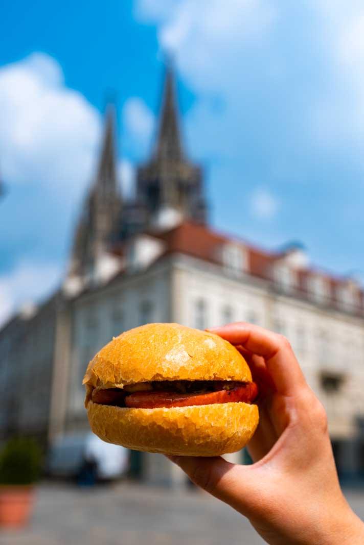 the famous Regensburg knacker