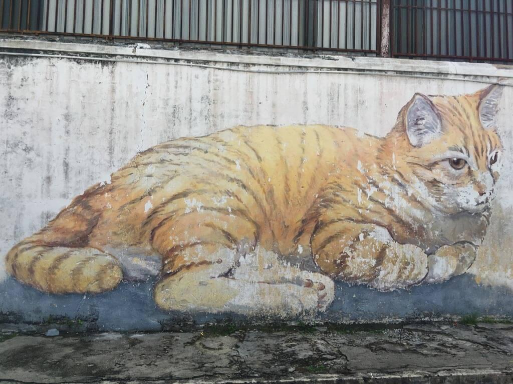Georgetown Street Art - giant orange cat painting