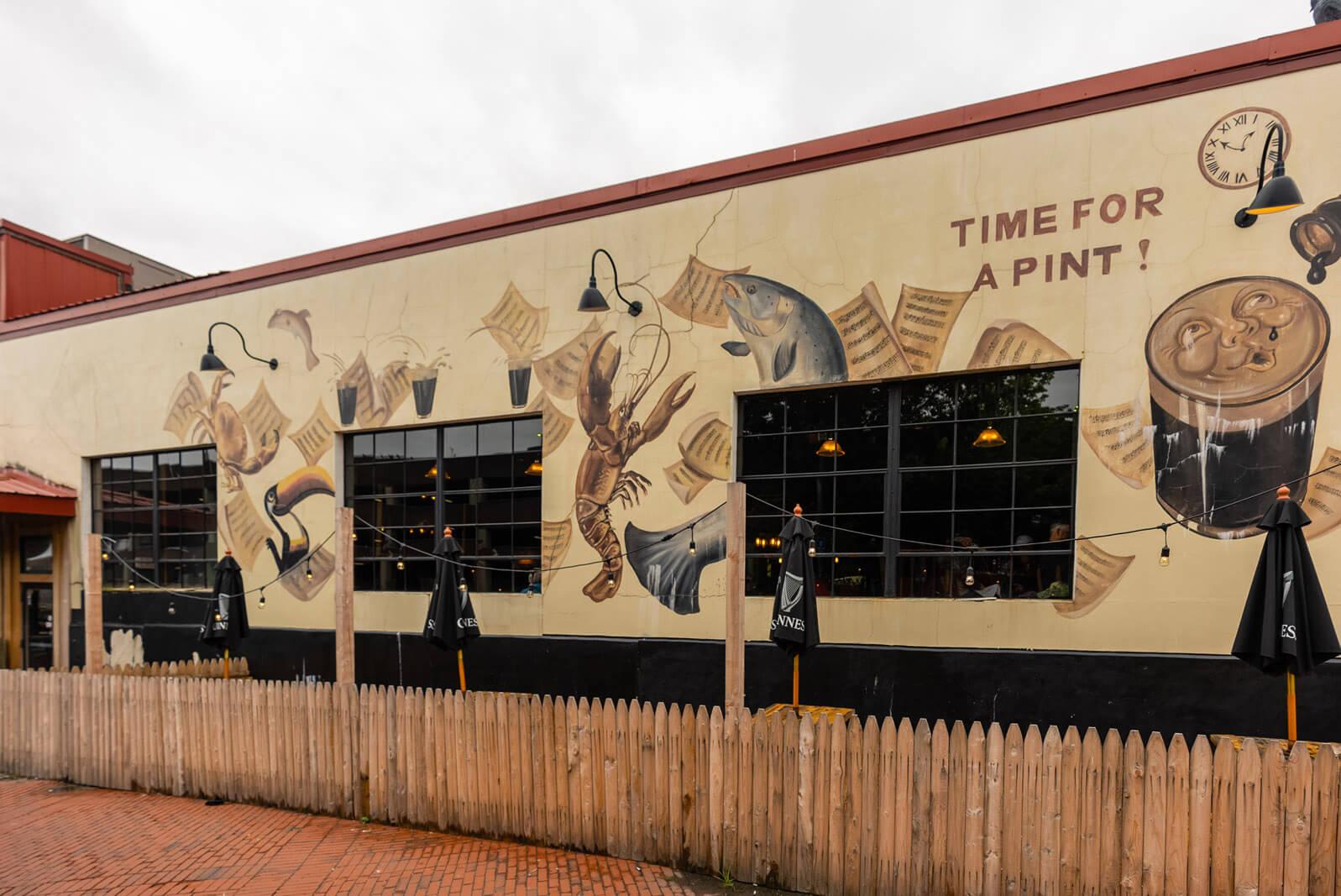 Ri Ra Irish Pub on Commercial Street in Old Port Portland Maine