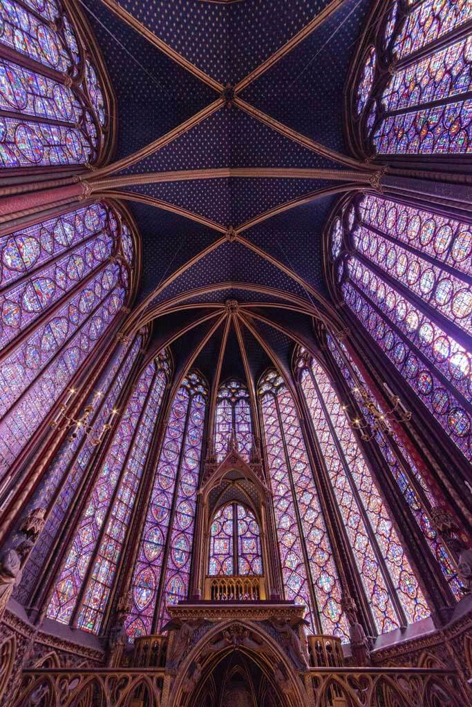 Sainte Chapelle stain glass in Paris