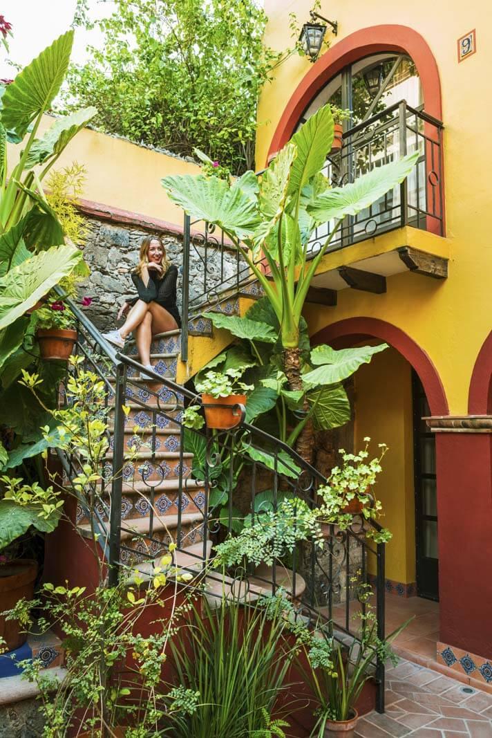 Adorable Staircase in San Miguel de Allende