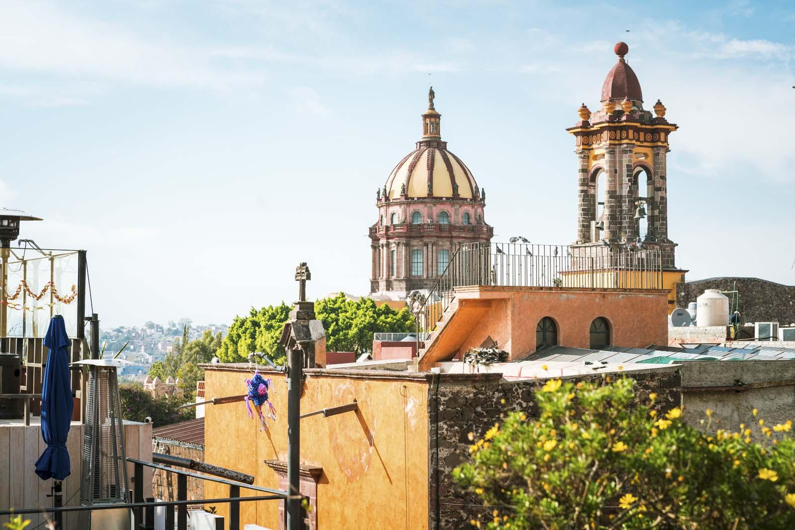 Rooftop bar view in San Miguel De Allende
