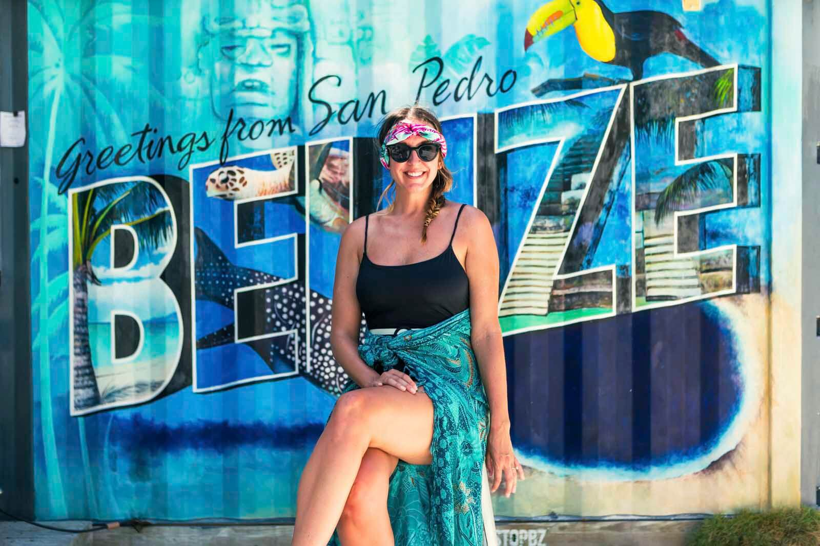 Welcome to San Pedro Belize sign