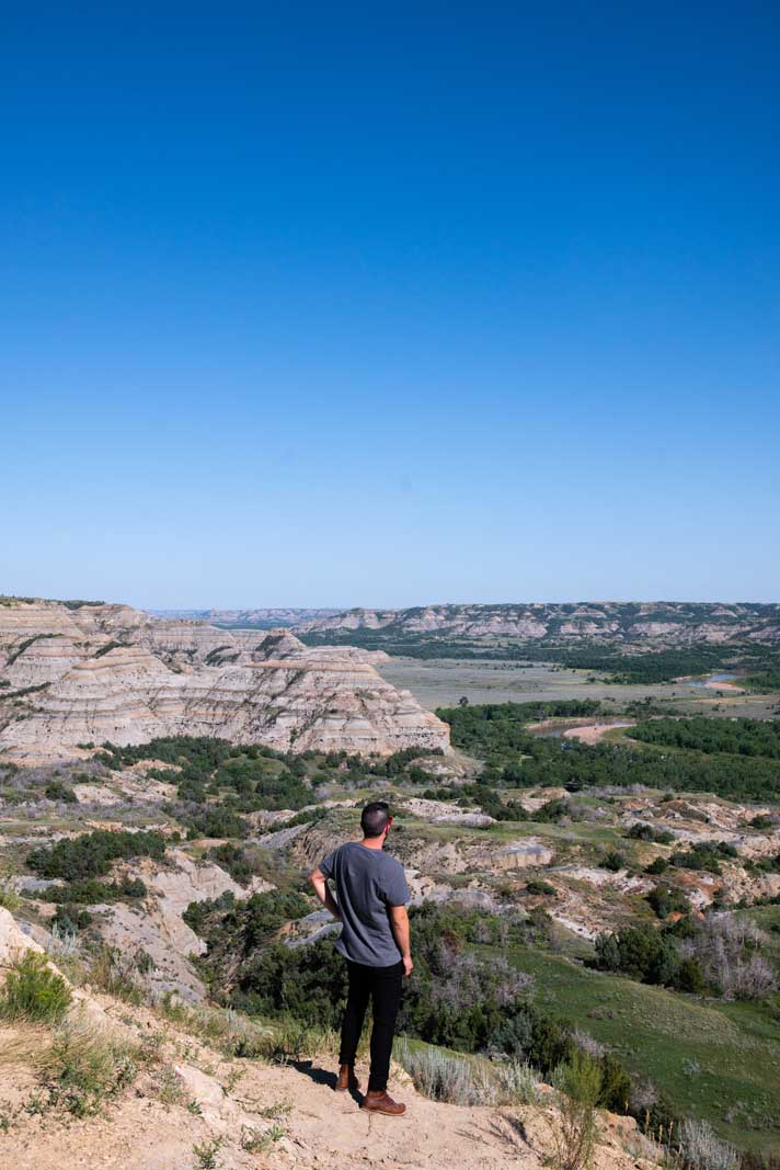 Scott looking at the view at Theodore Roosevelt National Park in North Dakota