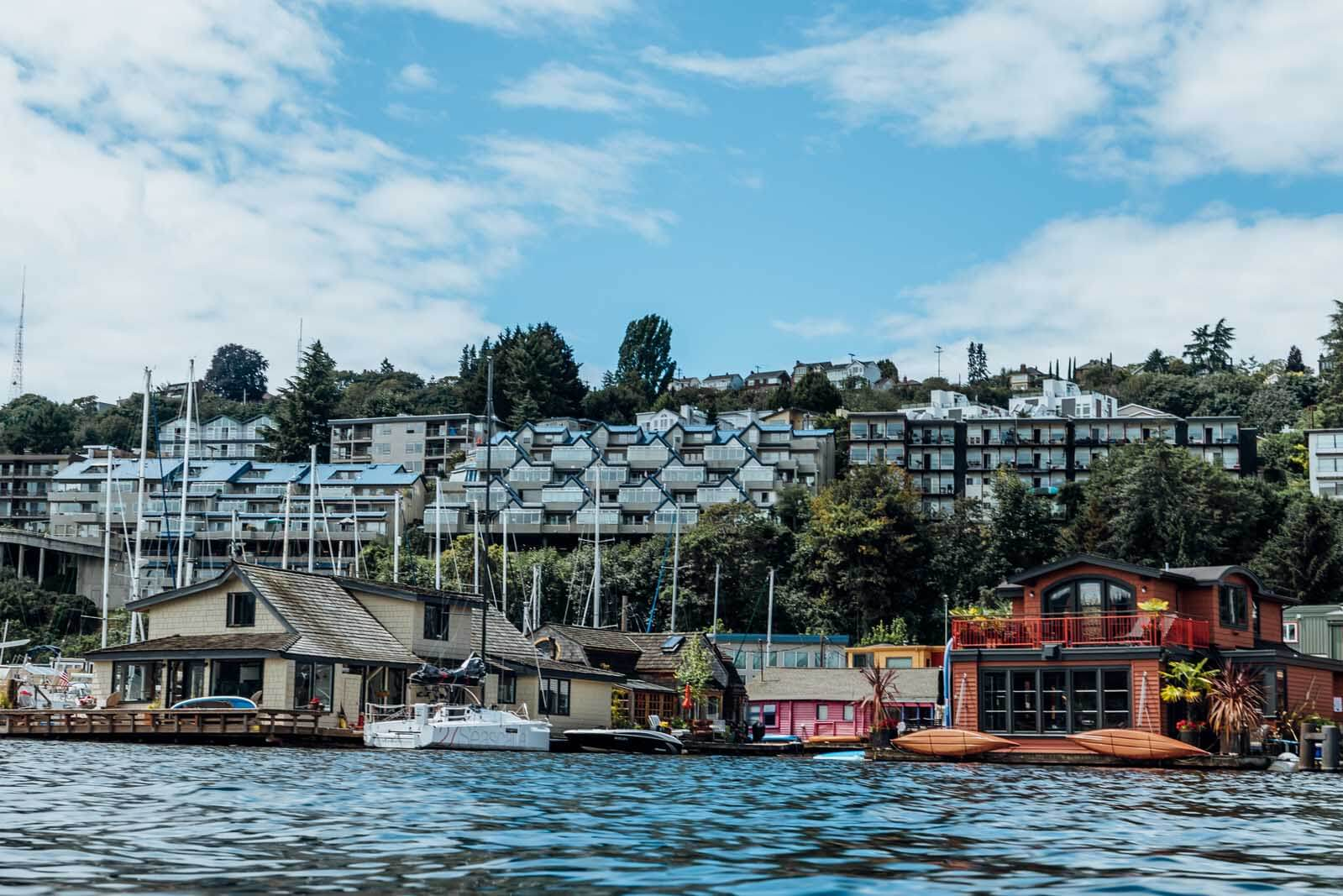 House Boats in Seattle Washington on Lake Union