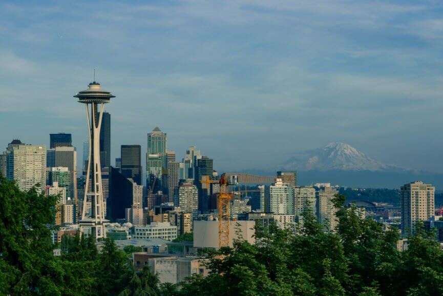 View of Seattle from Kerry Park in the neighborhood of Queen Anne