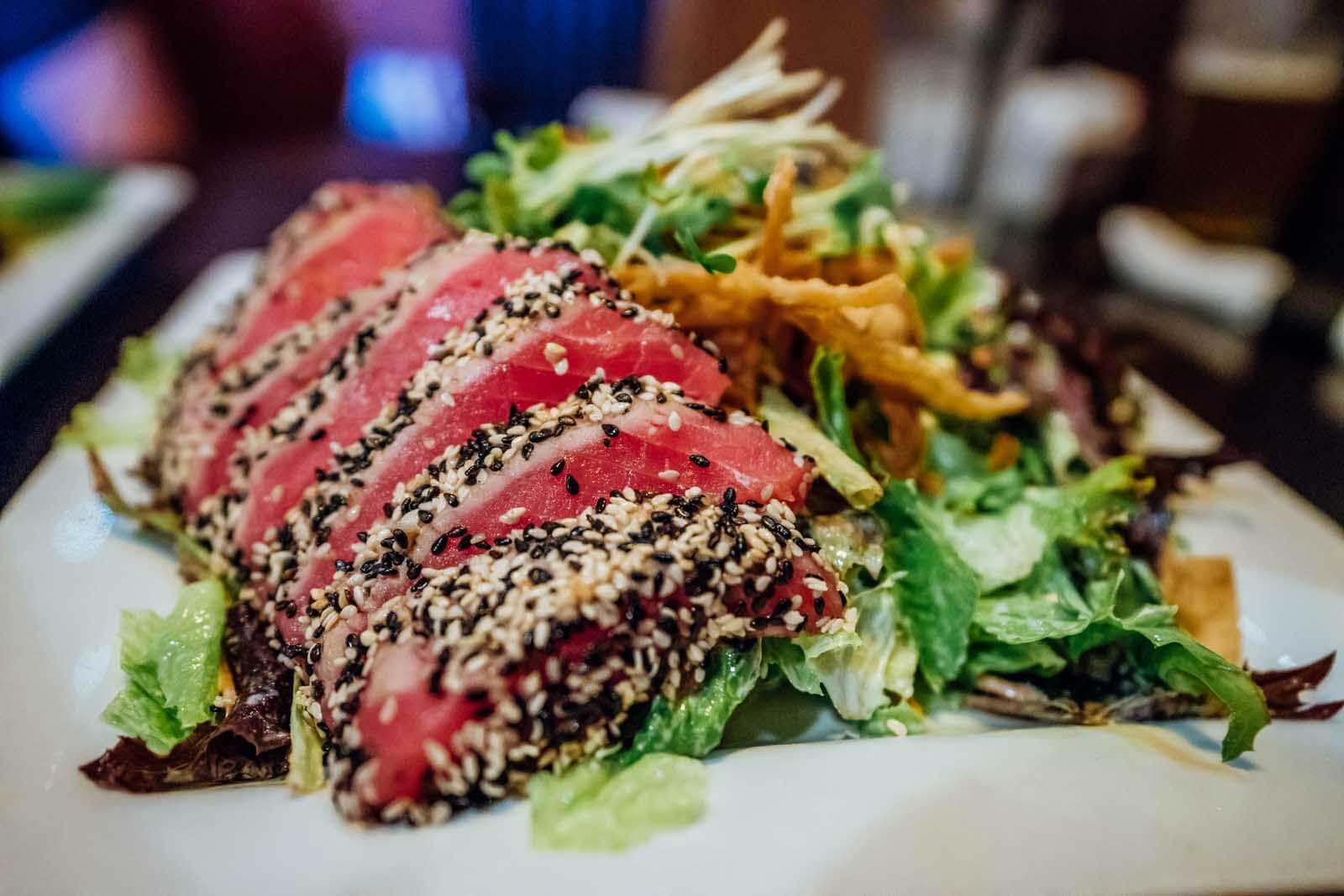 Ahi Tuna salad at Second Street Grill in downtown Yakima