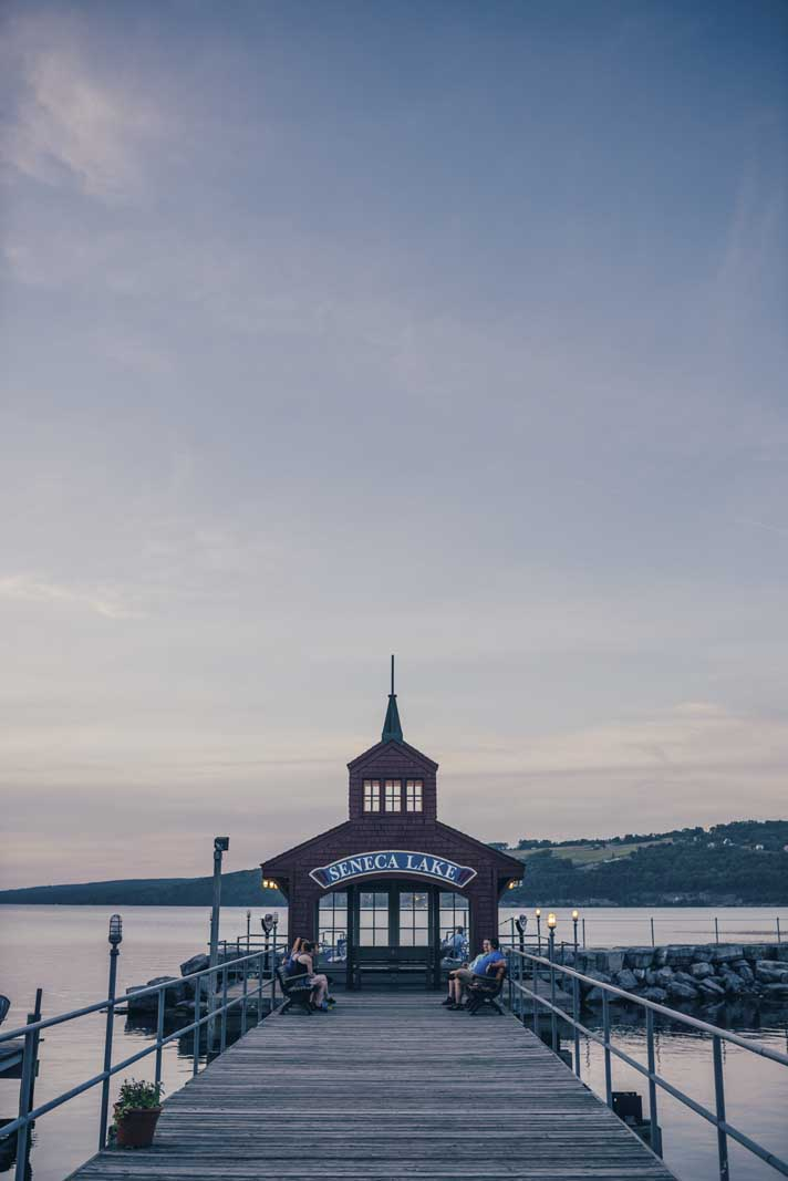 Seneca Lake Pier by Harbor Hotel in Watkins Glen