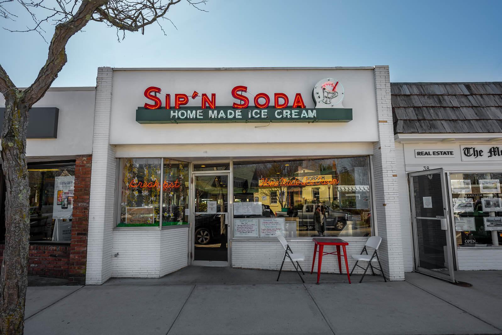 Sip n soda in south hampton in long island new york