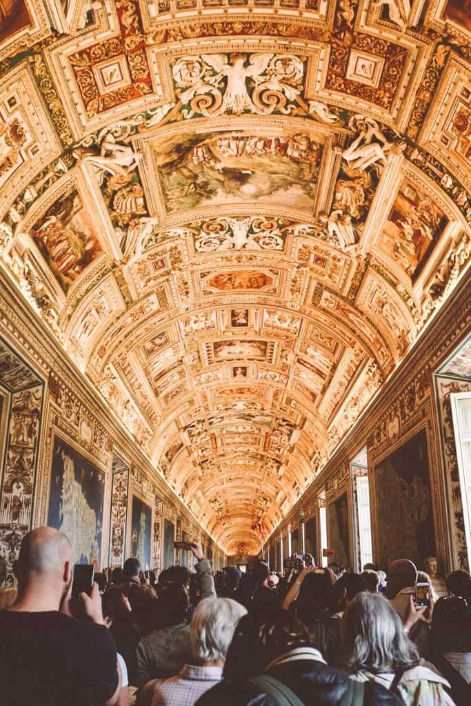 inside the Sistene Chapel in Rome