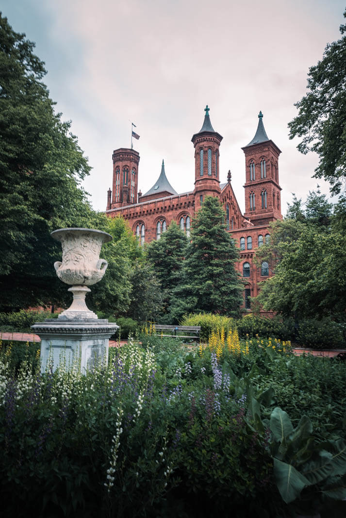 Smithsonian Castle on the National Mall in Washington DC