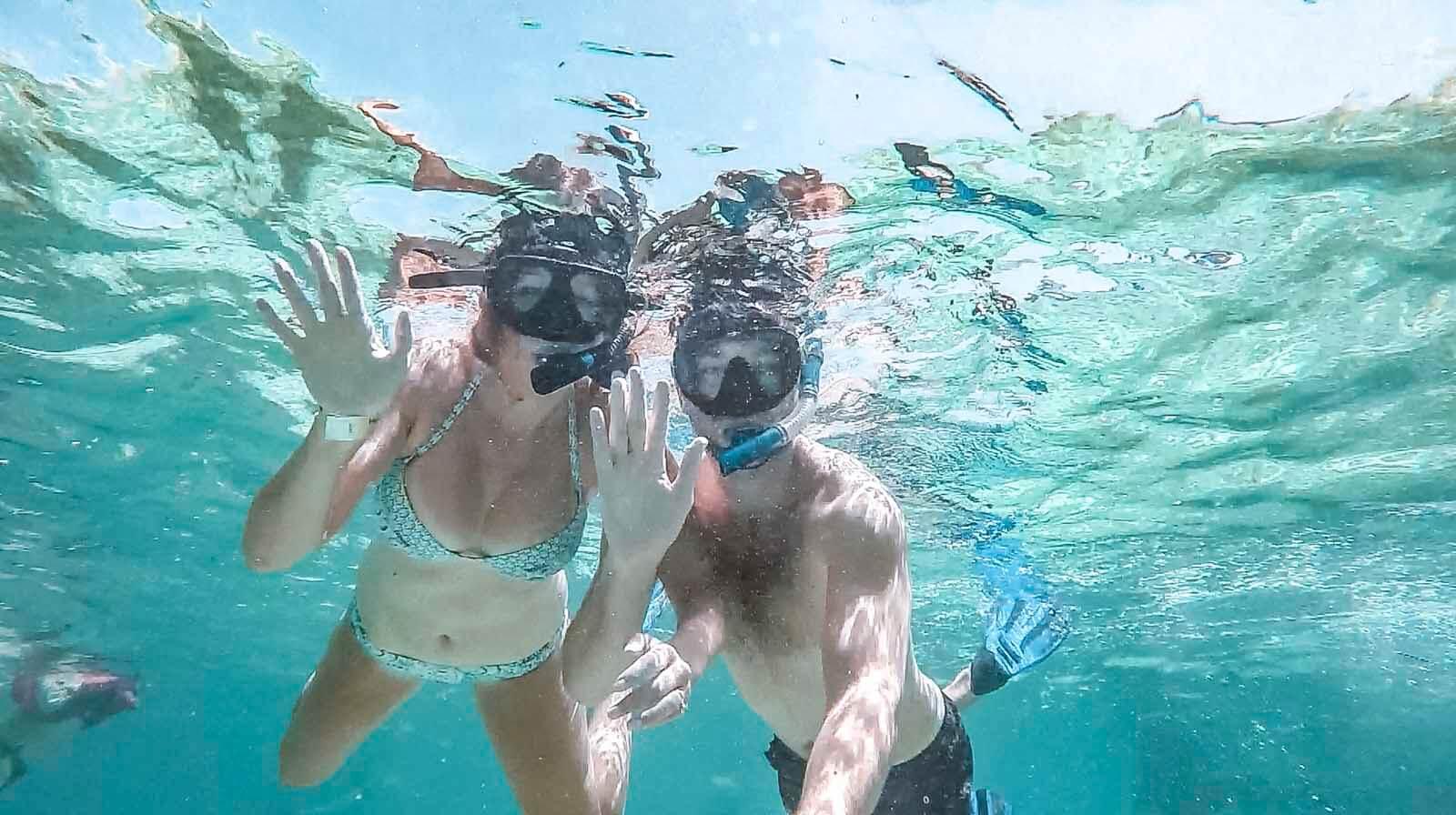 Snorkeling at Hol Chan Marine Reserve Belize