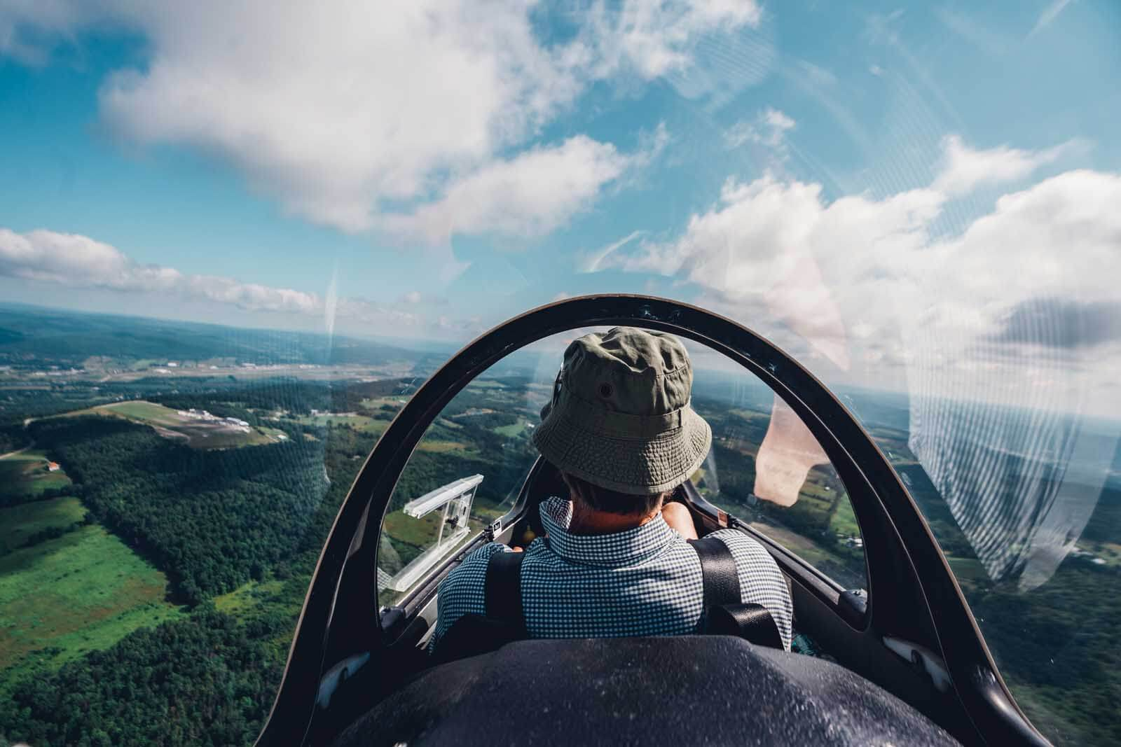 one of the most thrill seeking Finger Lakes activities is soaring in a glider at Harris Hill