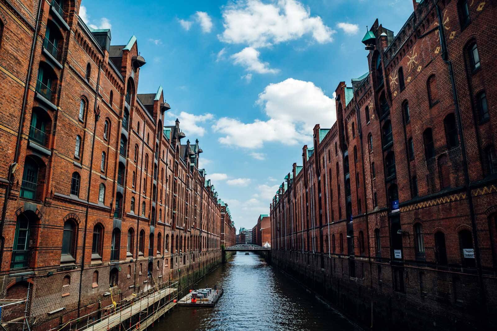 Speicherstadt in Hamburg Germany