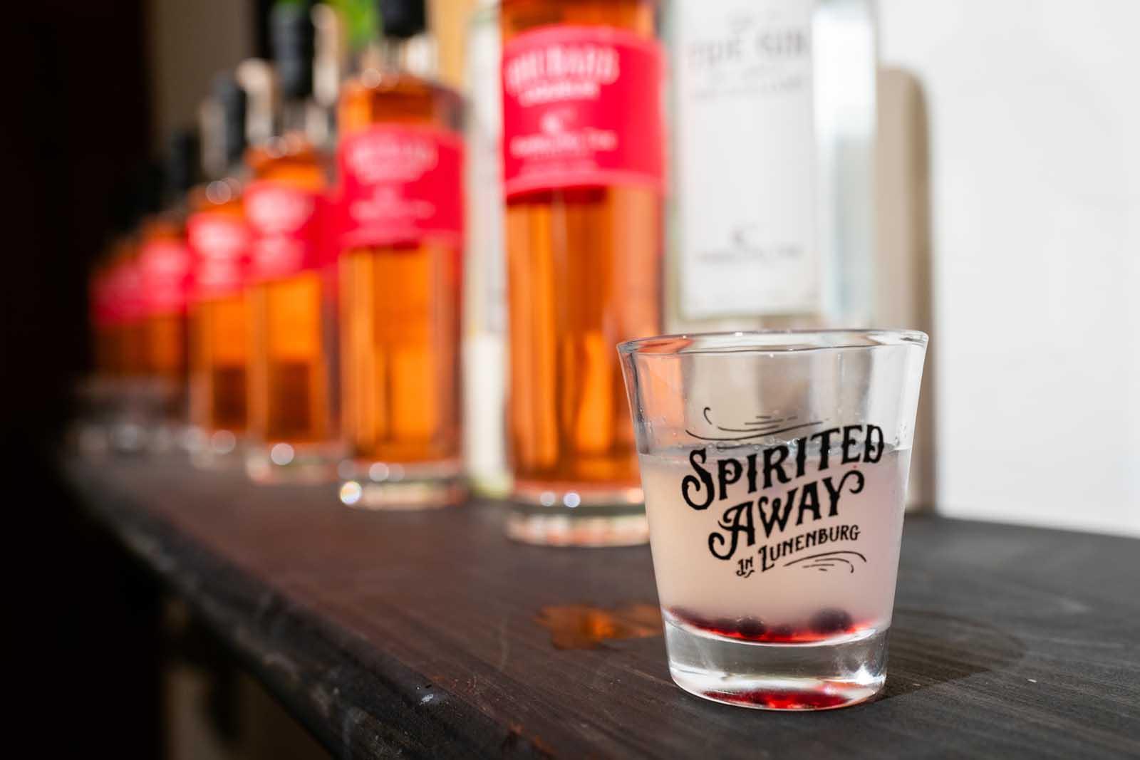 Spirited Away drink at the festival in Lunenburg Nova Scotia