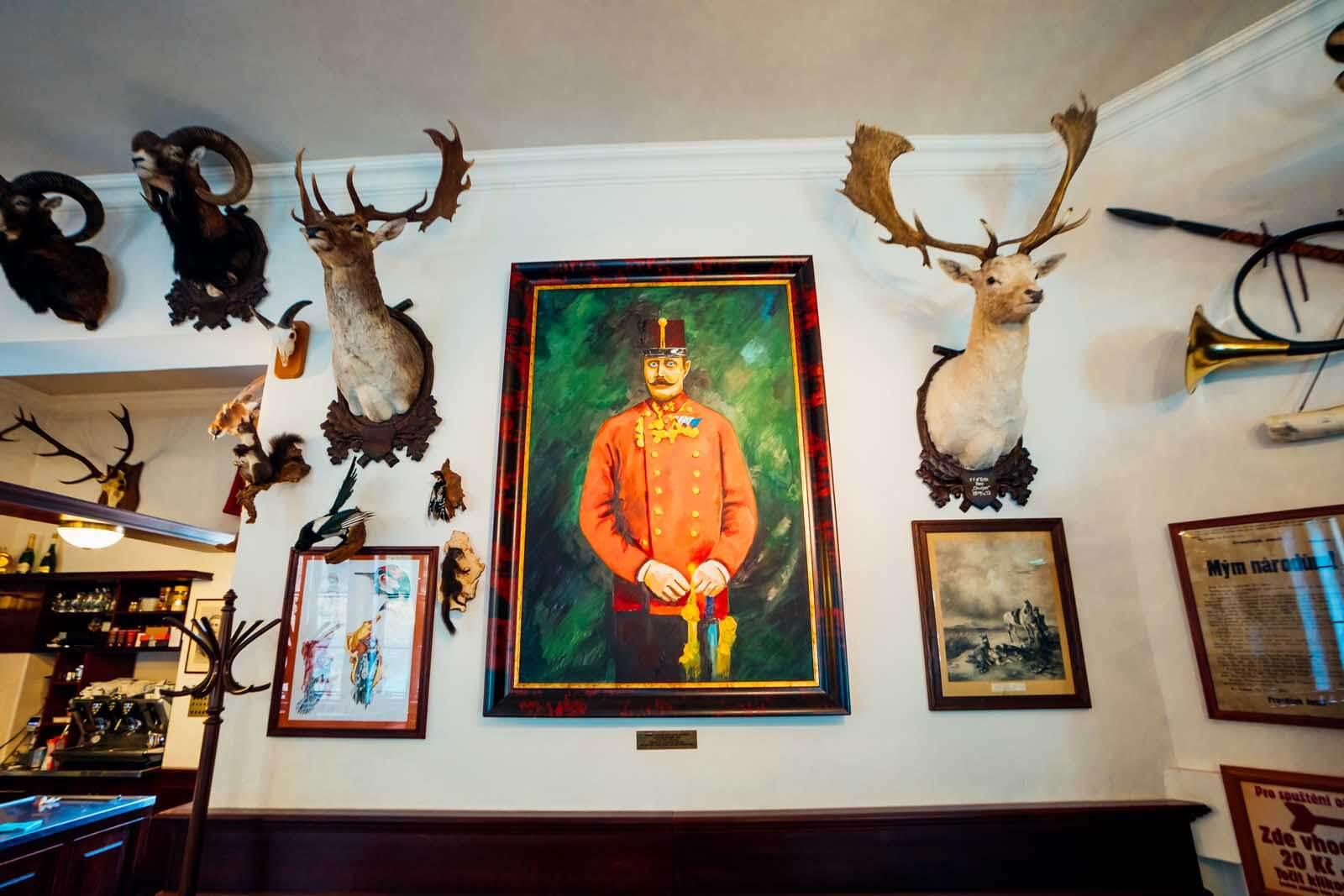 Stará Myslivna restaurant Franz Ferdinand Portrait in Konopiste
