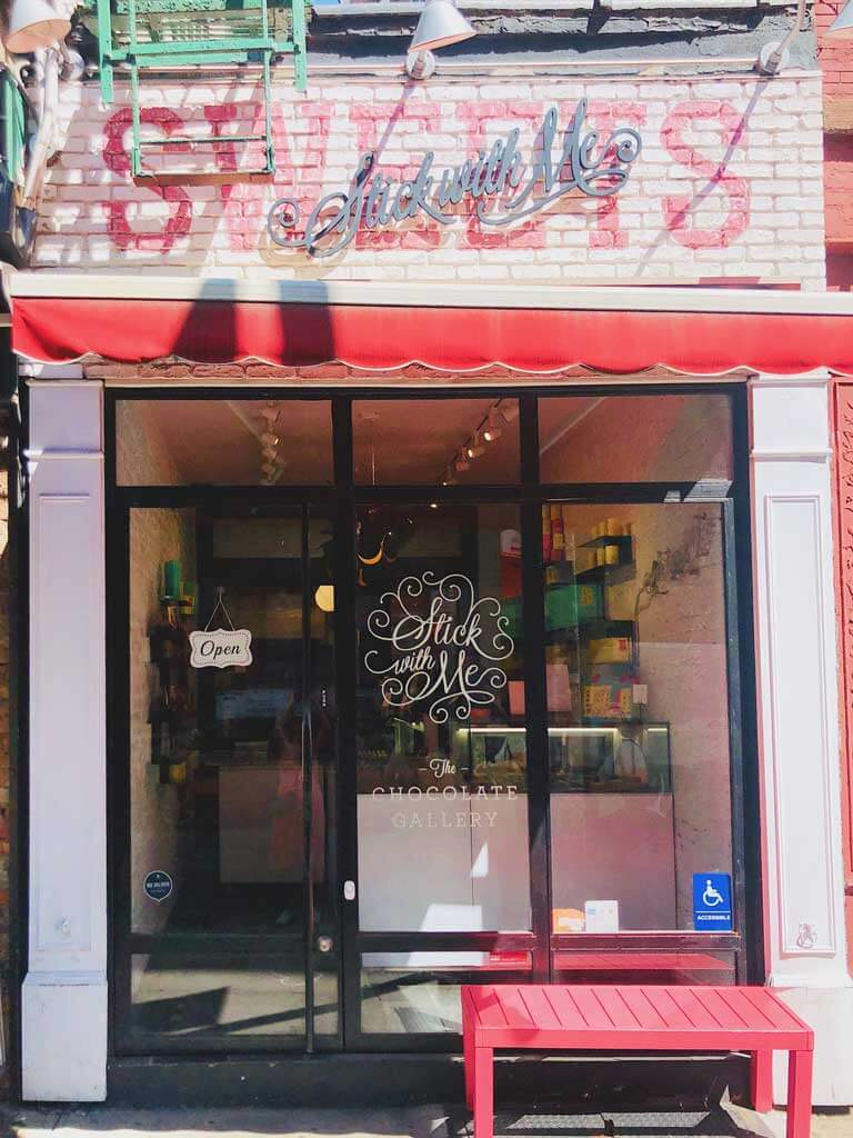 The front of Stick With Me Sweets in Nolita