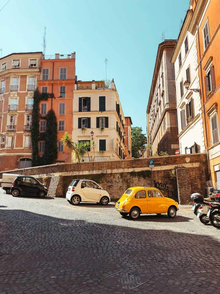 Pretty street scene in Rome
