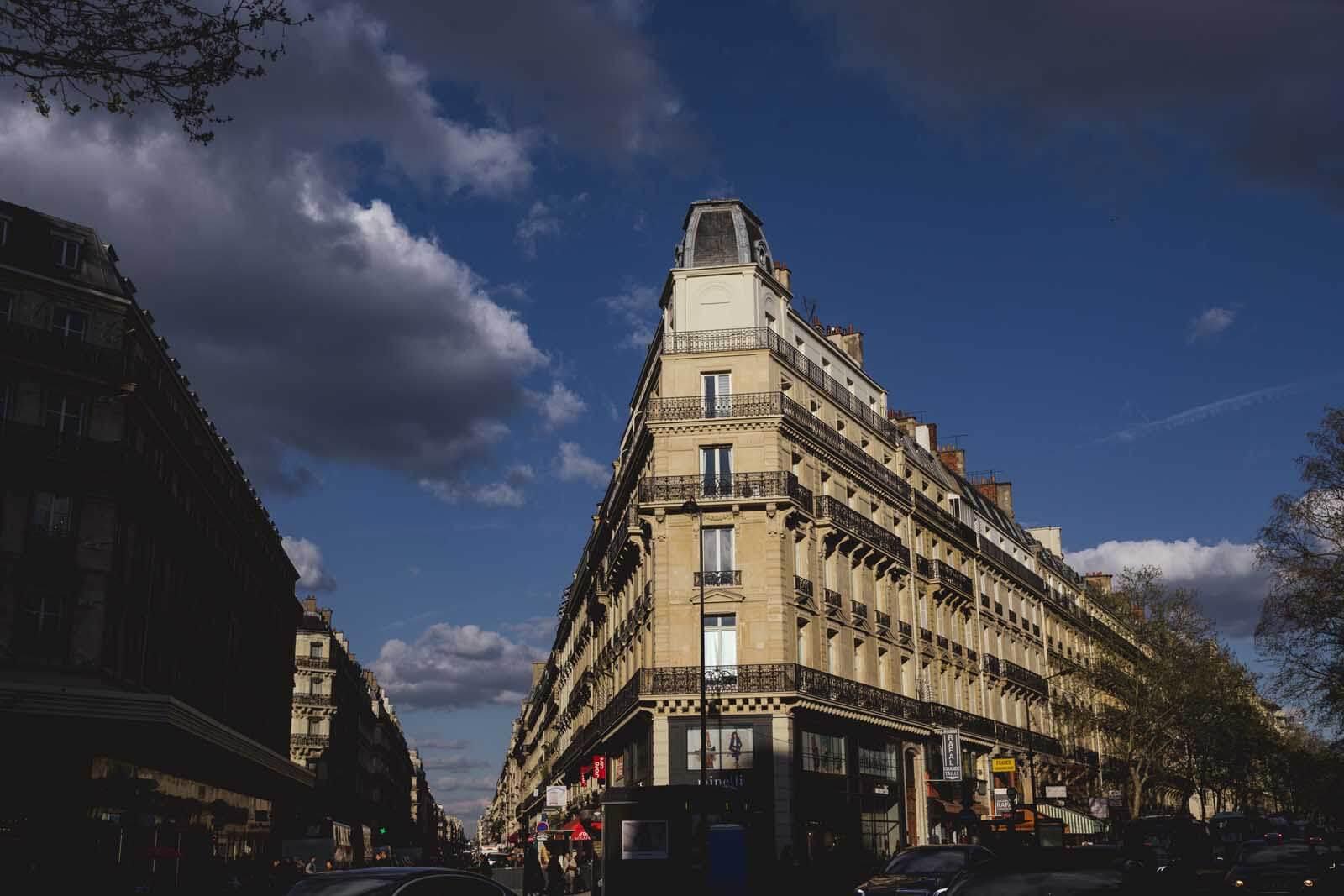 beautiful street in Paris France