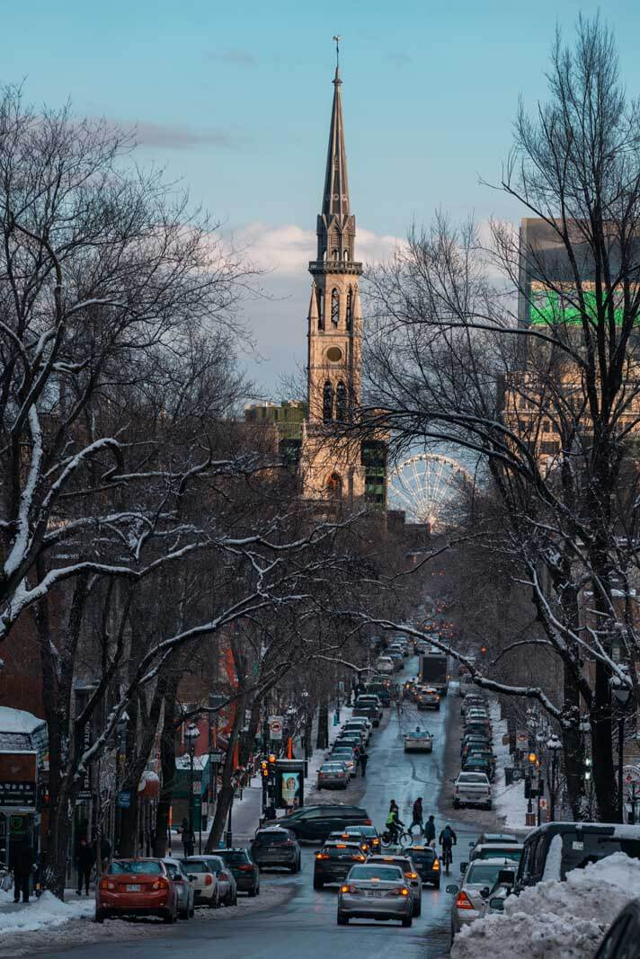 Street scene in Montreal Quebec