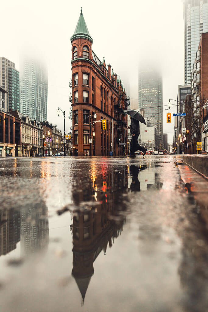 Street view in Toronto