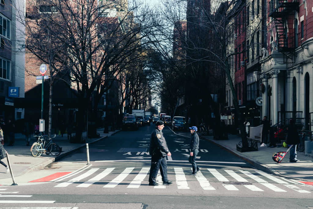 Street Crosswalk in Greenwich Village NYC