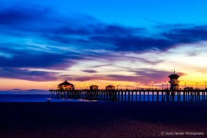 Huntington Beach Pier during Sunset