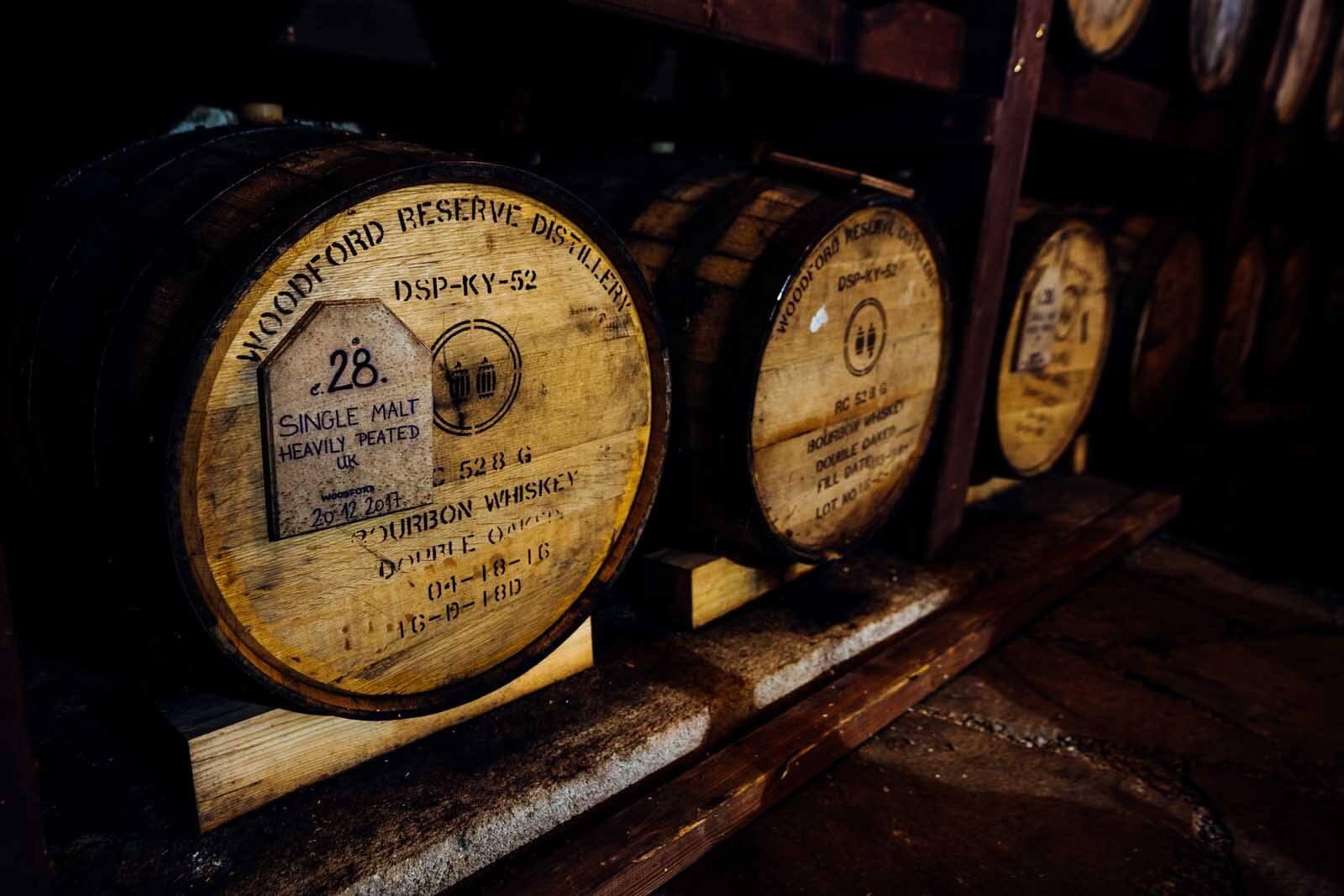 Svachovka distillery barrels